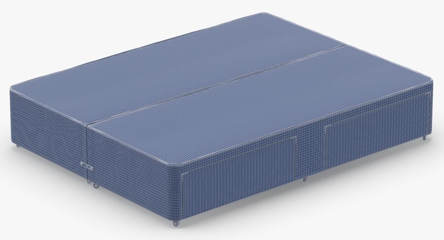 Bed Base 03 Grey royalty-free 3d model - Preview no. 14