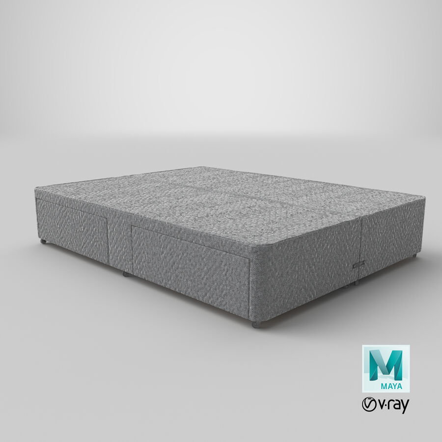 Bed Base 03 Grey royalty-free 3d model - Preview no. 29