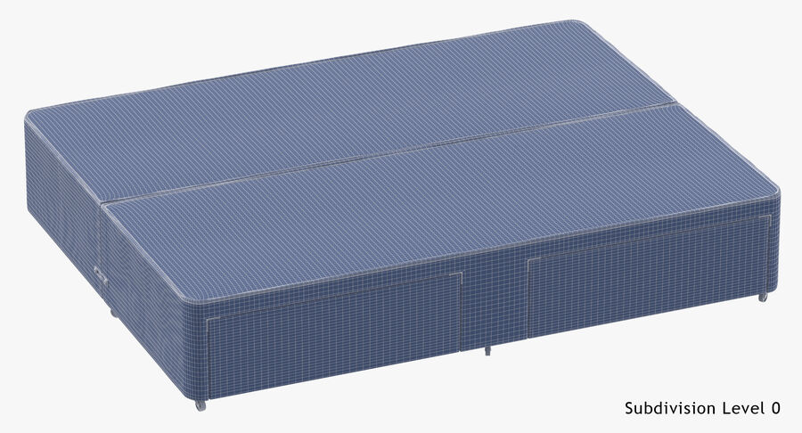 Bed Base 03 Grey royalty-free 3d model - Preview no. 19