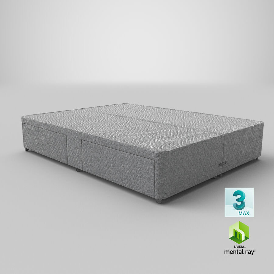 Bed Base 03 Grey royalty-free 3d model - Preview no. 25