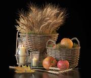 Decorative set with baskets 3d model