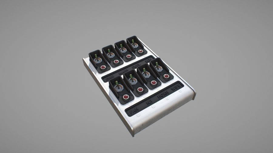 Panel sterowania D royalty-free 3d model - Preview no. 5