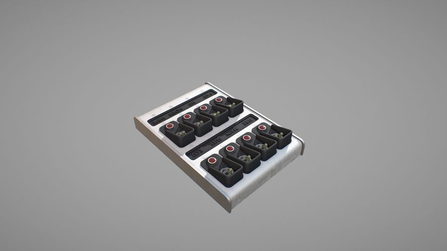 Panel sterowania D royalty-free 3d model - Preview no. 6