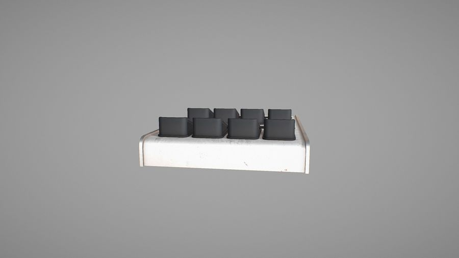 Panel sterowania D royalty-free 3d model - Preview no. 11
