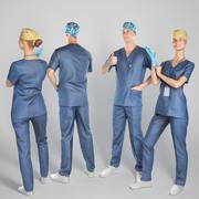 Bundel: chirurgische artsen 04 3d model