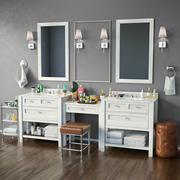 Meubilair en inrichting voor badkamers 3d model