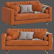 Культовая Мебель Belgravia 2-местный диван 3d model