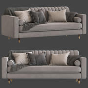 Kultmöbel Belgravia 3-Sitzer Sofa 3d model