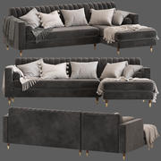 Культовая Мебель Диван Belgravia с Угловым Стулом 3d model