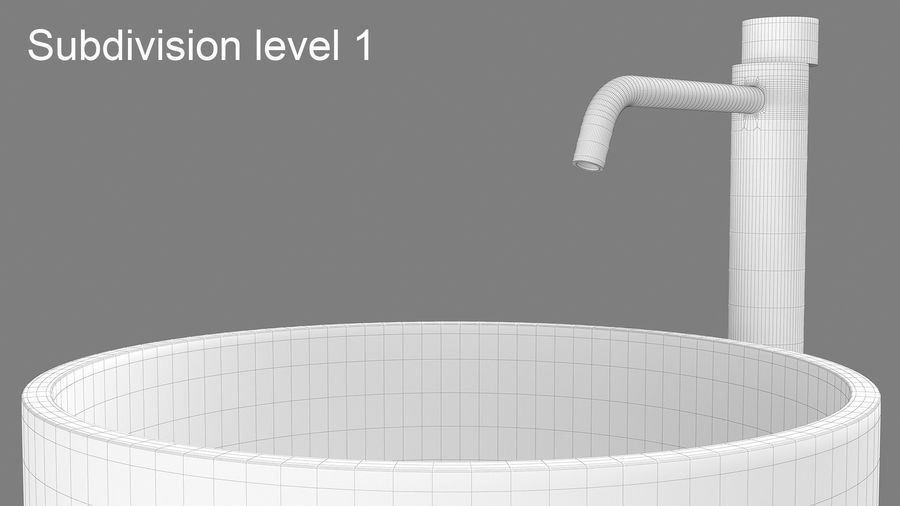Boffi PH Stone Sink e Boffi Eclipse High Faucet royalty-free 3d model - Preview no. 5