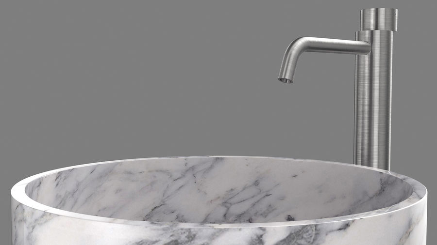 Boffi PH Stone Sink e Boffi Eclipse High Faucet royalty-free 3d model - Preview no. 3
