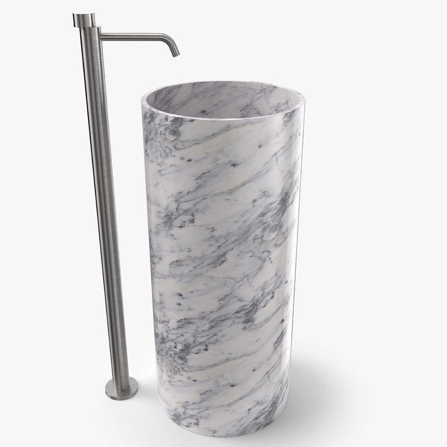Boffi PH Stone Sink e Boffi Eclipse High Faucet royalty-free 3d model - Preview no. 1