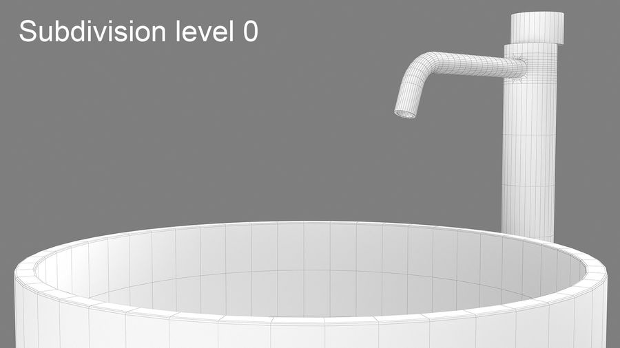 Boffi PH Stone Sink e Boffi Eclipse High Faucet royalty-free 3d model - Preview no. 4