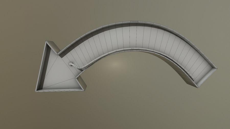 Sinal de seta royalty-free 3d model - Preview no. 9