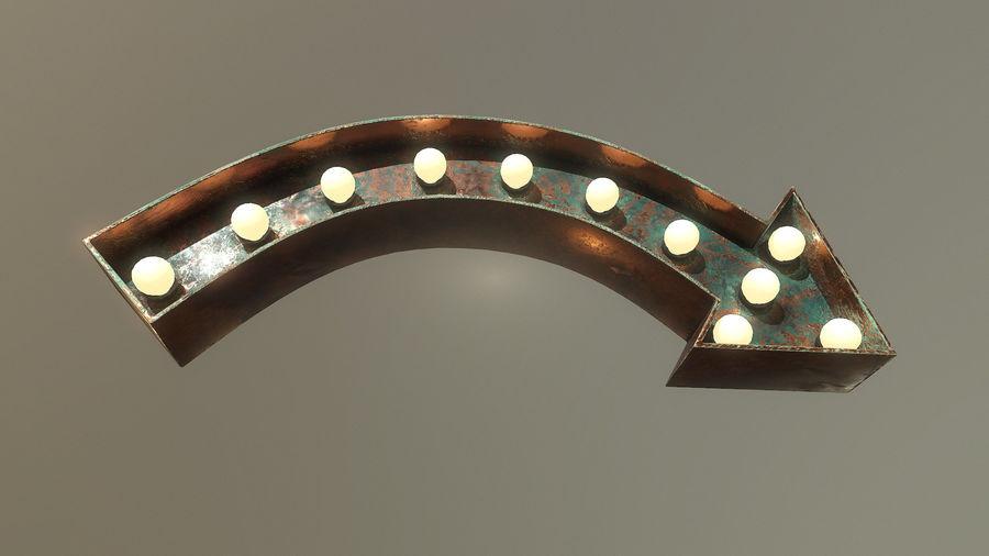 Sinal de seta royalty-free 3d model - Preview no. 5