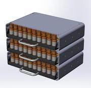 Sistema di cassetti per oli essenziali 3d model