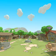 Polygon Nature blocks and Items for RPG Adventure games modelo 3d