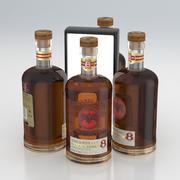 Alkol Şişesi Bacardi Reserva Ocho Yaşlı 8 Yıl Nadir Altın Rum 700ml 2020 3d model