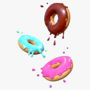 Glazed Donuts 3d model