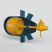 Hydroelektrisches Kraftwerk 3d model