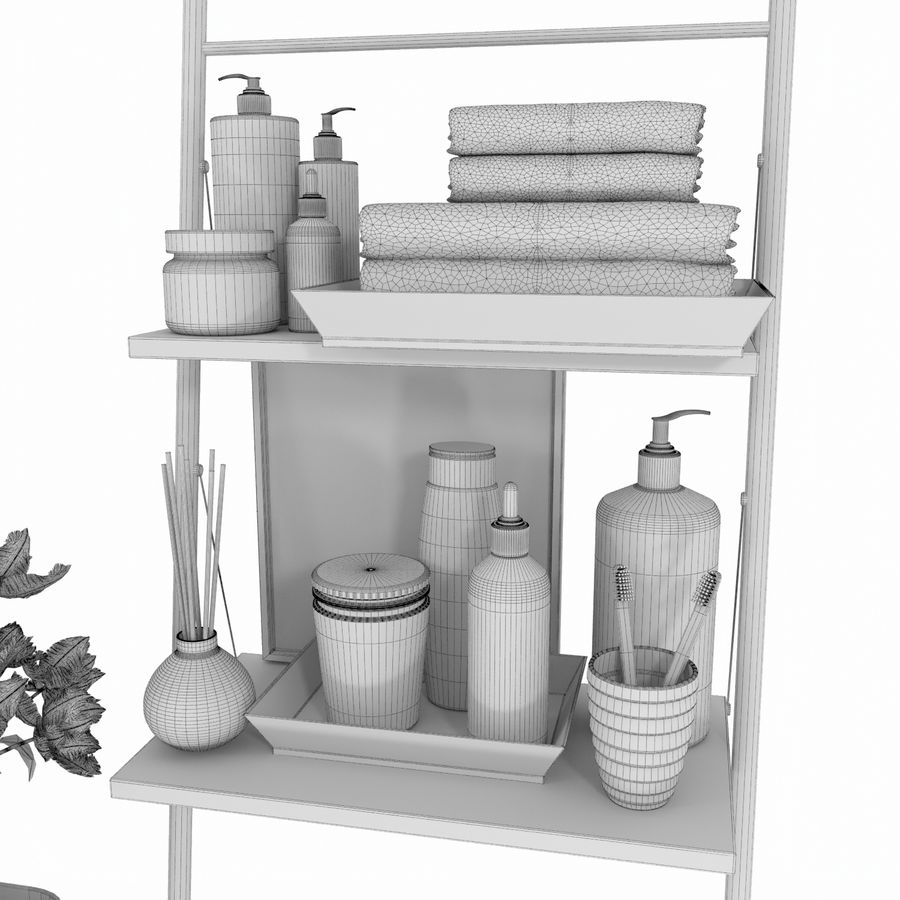 Bathroom Accessories royalty-free 3d model - Preview no. 10