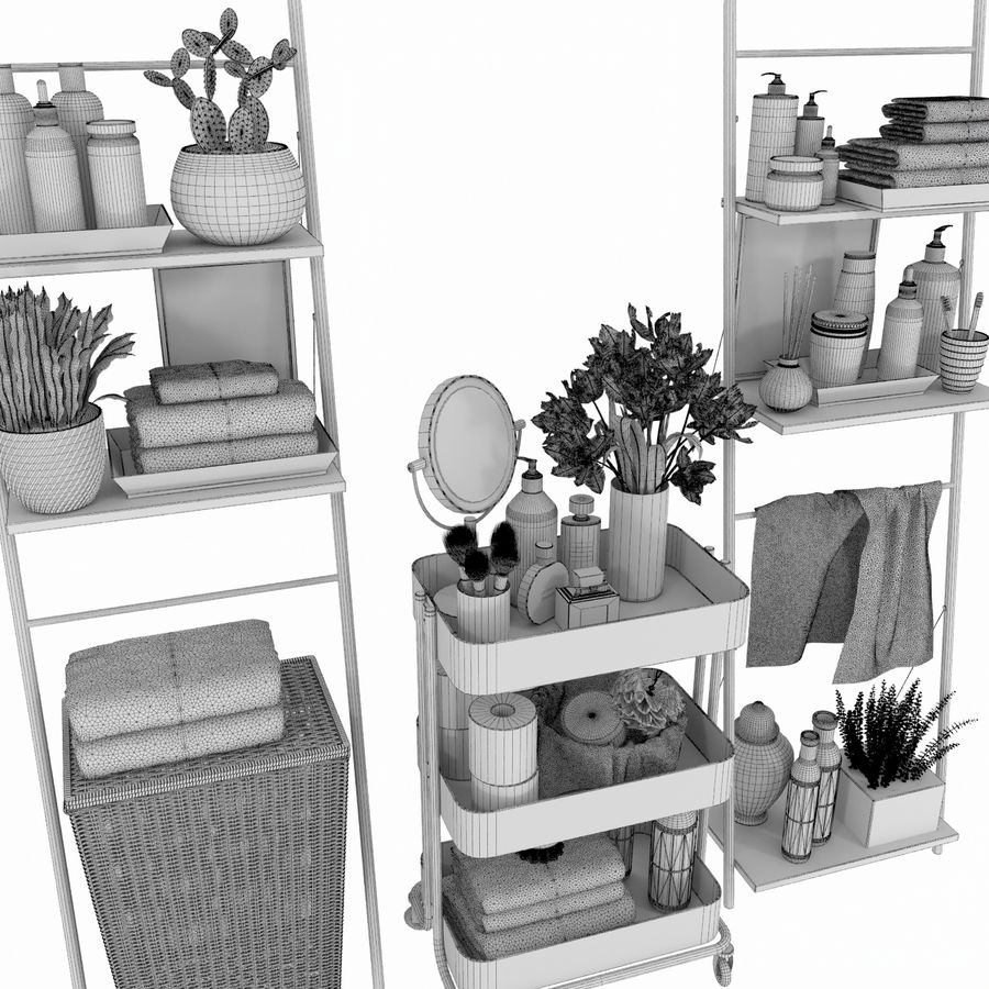 Bathroom Accessories royalty-free 3d model - Preview no. 4