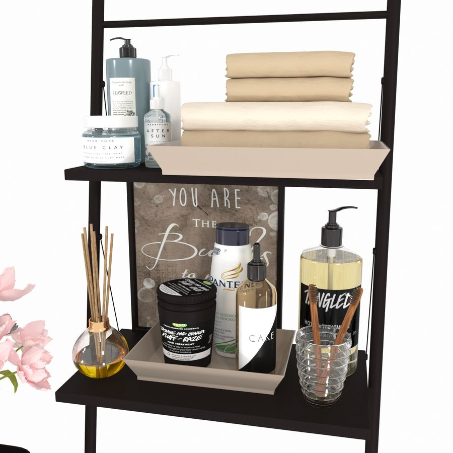 Bathroom Accessories royalty-free 3d model - Preview no. 9