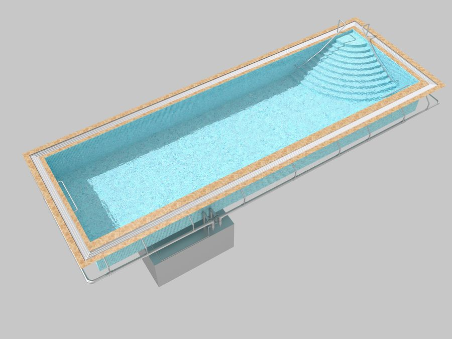 Swimming Pool royalty-free 3d model - Preview no. 6