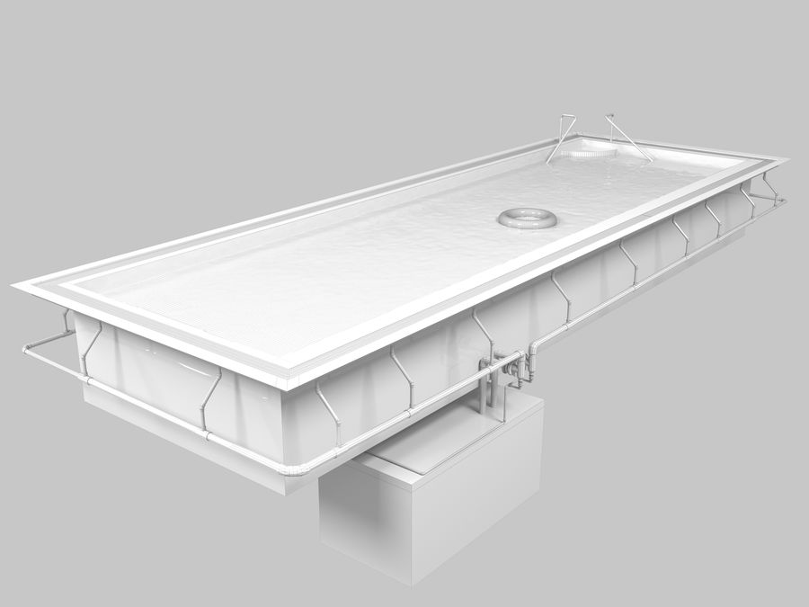 Swimming Pool royalty-free 3d model - Preview no. 10