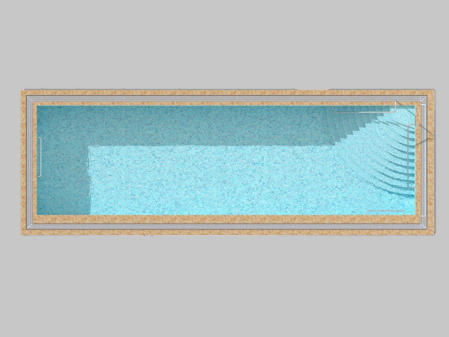 Swimming Pool royalty-free 3d model - Preview no. 7