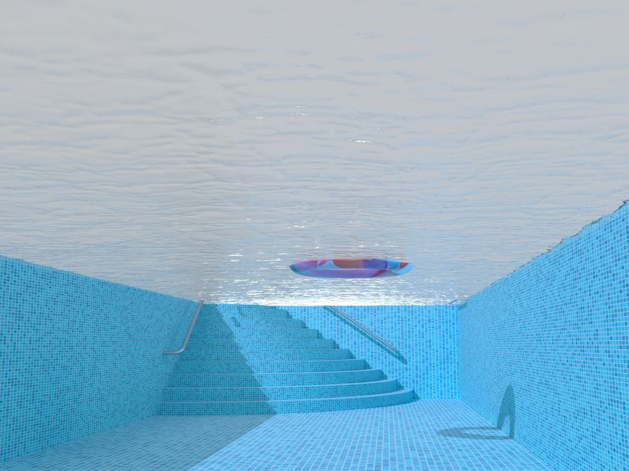Swimming Pool royalty-free 3d model - Preview no. 9