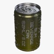 苏打水能量饮料铝苗条饮料可以与水滴150毫升 3d model