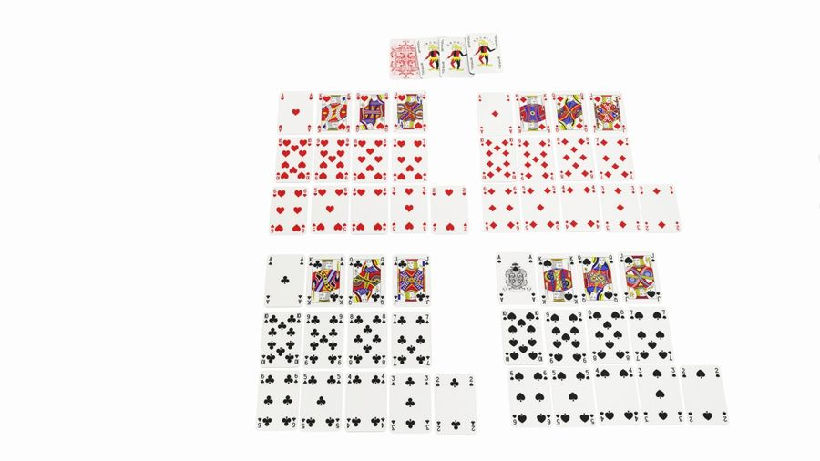 Giocando a carte royalty-free 3d model - Preview no. 10