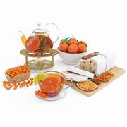 Chá de frutas e tangerinas 3d model