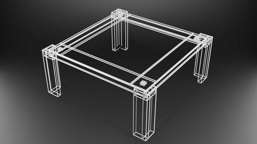 식사 테이블 royalty-free 3d model - Preview no. 36