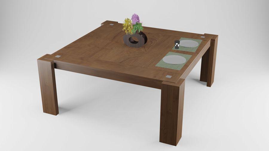 식사 테이블 royalty-free 3d model - Preview no. 1
