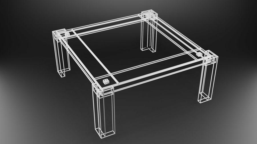 식사 테이블 royalty-free 3d model - Preview no. 24