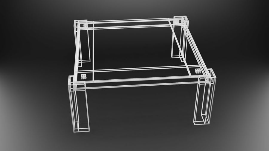 식사 테이블 royalty-free 3d model - Preview no. 27