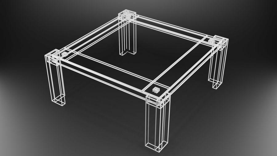 식사 테이블 royalty-free 3d model - Preview no. 32