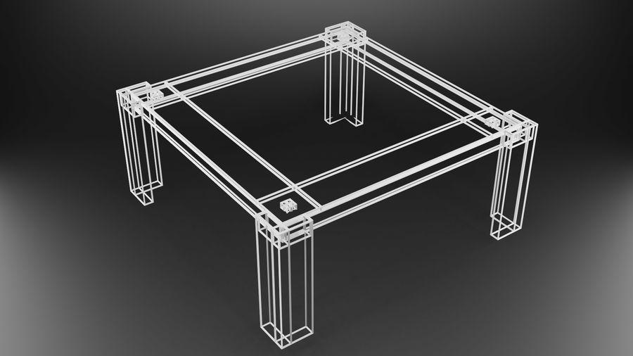 식사 테이블 royalty-free 3d model - Preview no. 35
