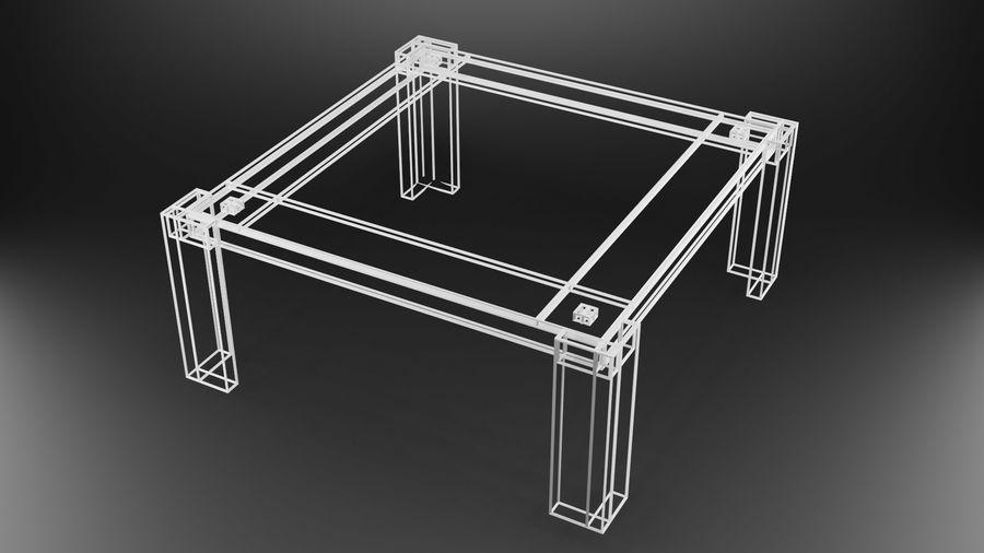 식사 테이블 royalty-free 3d model - Preview no. 29