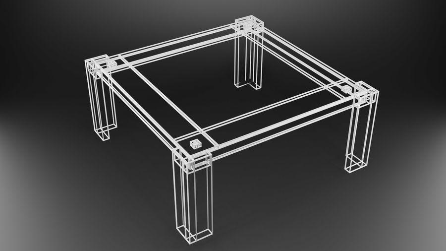 식사 테이블 royalty-free 3d model - Preview no. 28