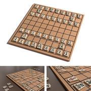 traditionella Shogi styrelse 3d model