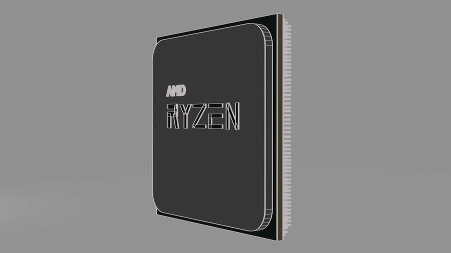 ryzen cpu royalty-free 3d model - Preview no. 5