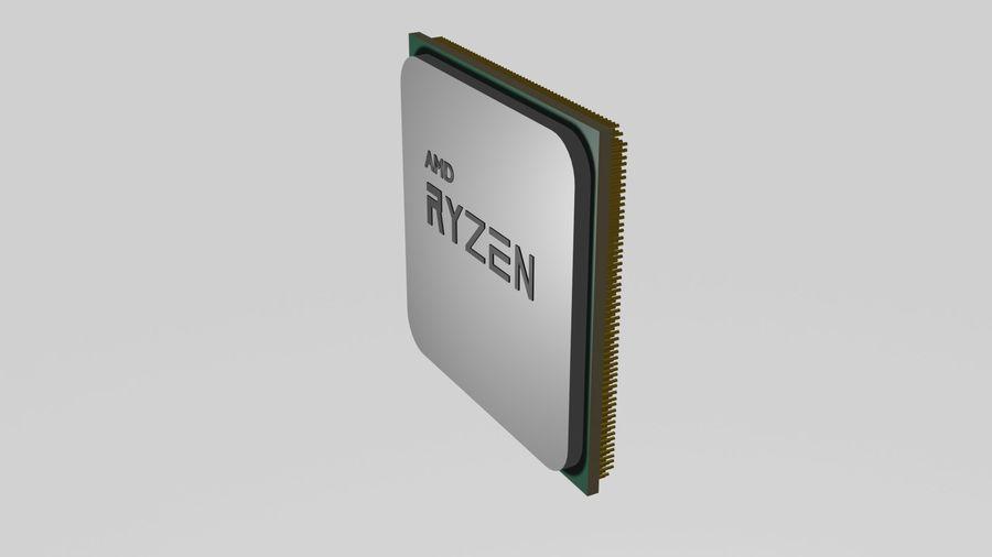ryzen cpu royalty-free 3d model - Preview no. 2