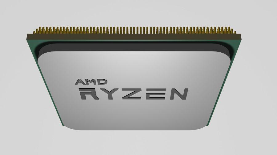 ryzen cpu royalty-free 3d model - Preview no. 3