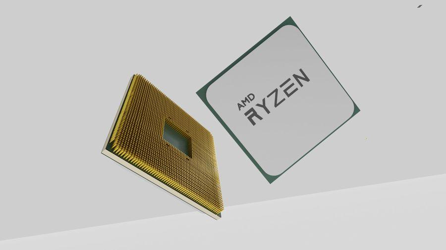 ryzen cpu royalty-free 3d model - Preview no. 1