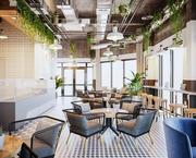 커피 스칸디나비아 레스토랑 및 카페 3D 장면 3d model