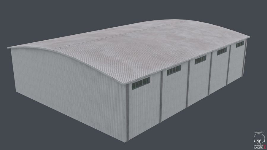 Hangar pour avions royalty-free 3d model - Preview no. 8