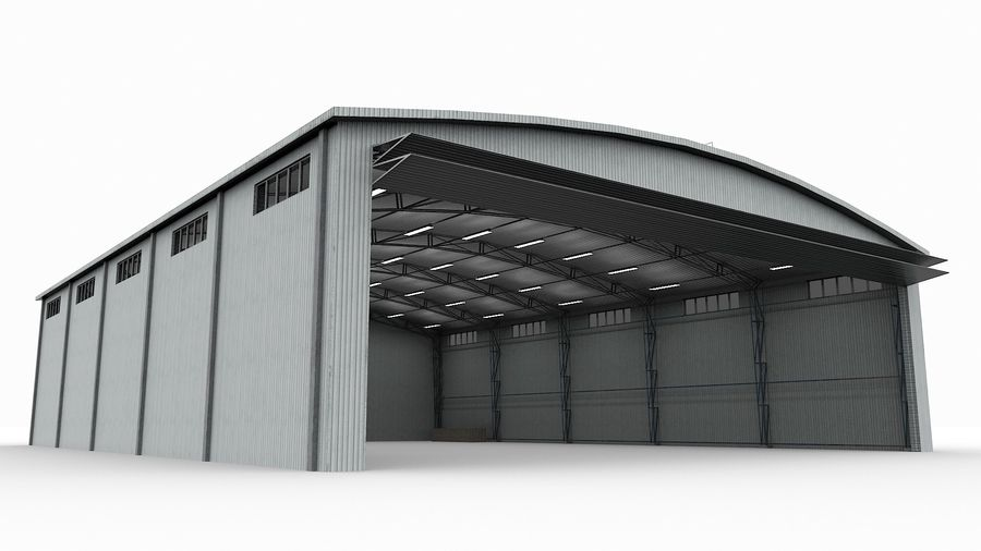 Hangar pour avions royalty-free 3d model - Preview no. 6